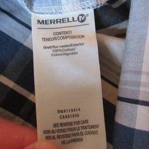 Merrell Shirts - Mens Merrell Plaid Long Sleeve Button Front Shirt